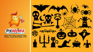 halloween scene clipart halloween vector shapes set illustrator and photoshop tutorial