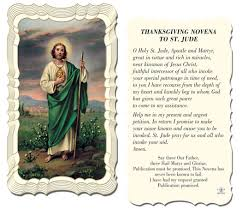 thanksgiving novena to st jude gold foil