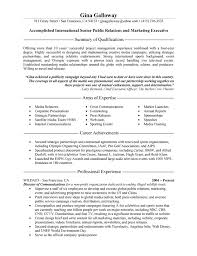 sample of executive resume public relations executive resume example executive resume