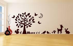 wall decals stickers home decor home furniture diy childrens wall art sticker mural big tree deer rabbits butterflies squirrel