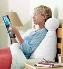 read in bed pillow pillows and neck pain