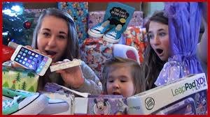 kids opening christmas presents monster high girls baby fun