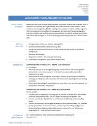 best ideas of administrative coordinator resume sample with