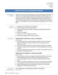 coordinator resume office coordinator resume samples travel