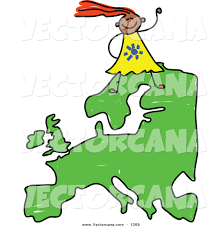 A Map Of Asia by Vector Of A Happy European Walking On A Map Of Asia By Prawny