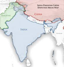 Map Of India Physical Blank by File India Pakistan China Disputed Areas Map Png Wikimedia Commons