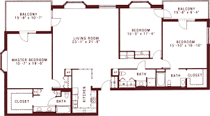 three bedroom apartments for senior living at riddle village