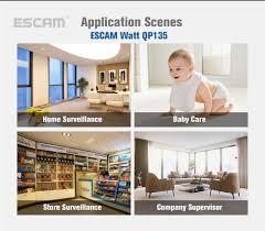 interior home surveillance cameras escam new qp135 video surveillance camera wifi camera videcam