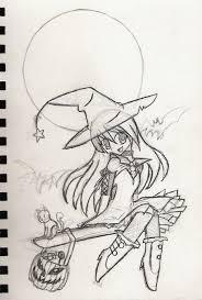 halloween witch sketch by kaiomutaru25 on deviantart