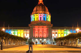 sf city hall lights san francisco city hall lights up with pride following supreme court