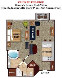 disney world floor plans the living dining kitchen space of one and two bedroom villas at