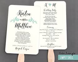 wedding program fans template whimsical branches wedding program fan cool colors