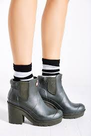 womens boots block heel original block heel chelsea boot in green lyst