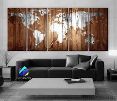 vintage home interior products xlarge 30 x 70 5 panels canvas print original wood texture