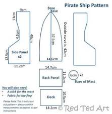 free boat template to make this one is for a pirate ship and one