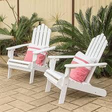 Outdoor Chairs 2x Adirondack Acacia Hardwood Outdoor Chairs White Buy Adirondack