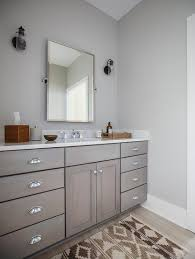 Shaker Bathroom Vanity Cabinets by Gray Shaker Bath Vanity Cabinets With Rectangular Pivot Mirror