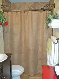 curtain ideas for bathrooms how to tie burlap shower curtain bathroom ideas