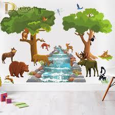 aliexpress com buy cartoon jungle wild animal tree giraffe