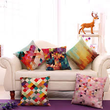 Home Decor Factory by Wholesale Customized Ful Geometric Abstract Printing Linen Throw
