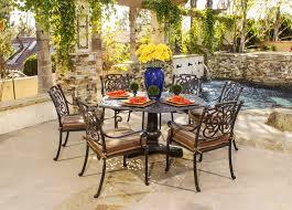 cast aluminum dining table hanamint cast aluminum patio furniture st augustine dining