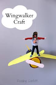 wingwalker airplane craft and book reading confetti