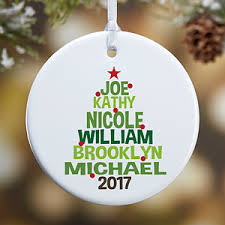 personalized family tree ornament for gifts