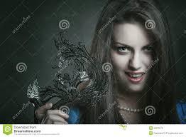 beautiful vampire with venetian mask stock photo image 48273079