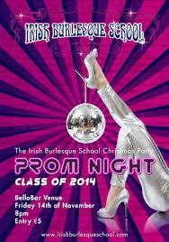 prom night u2013 xmas party 14th of november irish burlesque