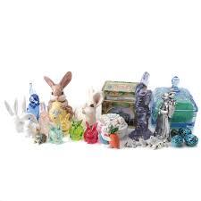 vintage rabbit vintage rabbit and dog figurines and decorative boxes ebth