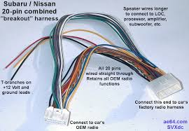 20 pin combined wiring harness for subaru impreza forester