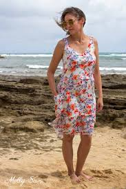 sun dress floral sundress with free pattern melly sews