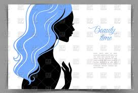 silhouette of young with blue hair business card template