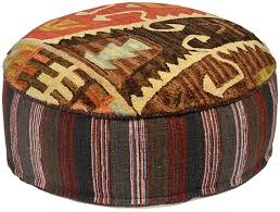 southwestern chairs and ottomans southwestern design round ottoman pouf