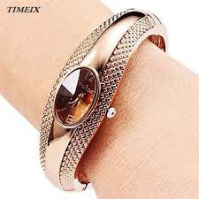 cuff bracelet watches images Buy fashion golden oval quartz watch women alloy jpg
