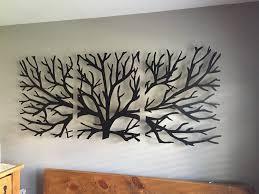 metal wall art etsy metal wall art decor sculpture piece tree brunch modern fireplace