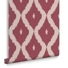 kelly u0027s ikat taupe and carmine wallpaper graham u0026 brown