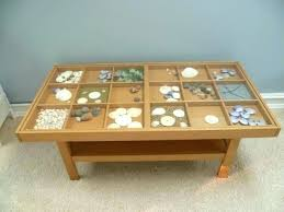 Glass Display Coffee Table Glass Display Coffee Table Daprafazer Co