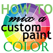 how to mix a custom paint color welcome to the woods