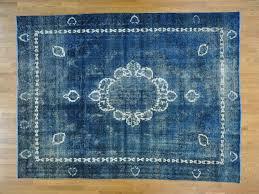 Persian Oriental Rugs by 9 U0027 X 12 U0027 Persian Tabriz Barjasta Handmade Denim Blue Overdyed