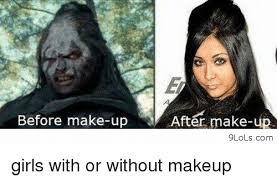 Funny Make Up Memes - girl with makeup meme vizitmir com