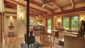 country kitchen house plans open floor plan custom make modern log blueprints cottage build