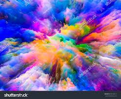 color explosion series composition fractal paint stock