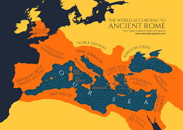 World Map According To America by The World According To Ancient Rome From Atlas Of Prejudice The