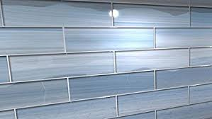 Blue Glass Kitchen Backsplash Big Blue Glass Tile For Kitchen Backsplashes And Showers