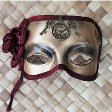 steunk masquerade mask steunk masquerade mask in gold with brass clock and and a