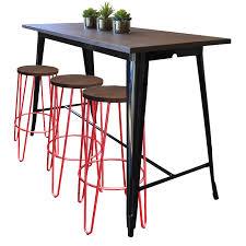 Tolix Bar Table Tolix Bar Table Black 153x60 Hairpin Stools X3 Jpg