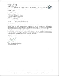 client letter geocon strain tenant advisory group
