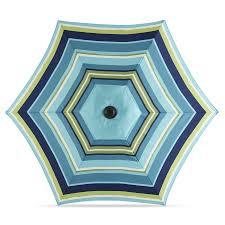 12 Foot Patio Umbrella by Shop Garden Treasures Blue Multi Stripe Market Patio Umbrella
