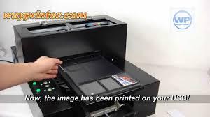 usb credit card flash drive id card a4 flatbed printer